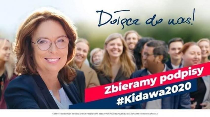 Zbiórka podpisów poparcia dla Małgorzaty Kidawy - Błońskiej w Nowym Dworze Gdańskim