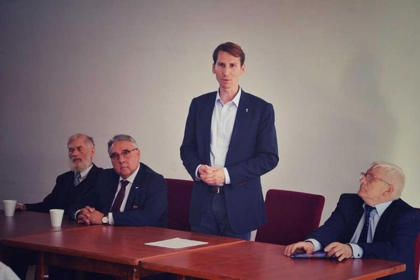 Nowy Dwór Gd. Spotkanie z posłem Kacprem Płażyńskim.