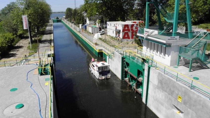 Pierwsze śluzowania w czasie przebudowy Przegaliny.