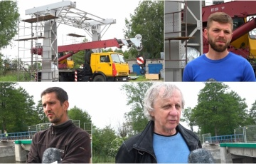 Remont mostu zwodzonego w Tujsku. Prace  remontowe w Stoczni Żuławy